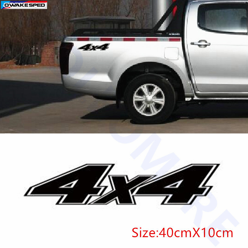 2pcs 4X4 Graphics Vinyl Decal Car Tail Decor Sticker Pick Up Trunk For Ford Ranger Land Rover Chevy Revo Vigo Dmax Adventure Mud