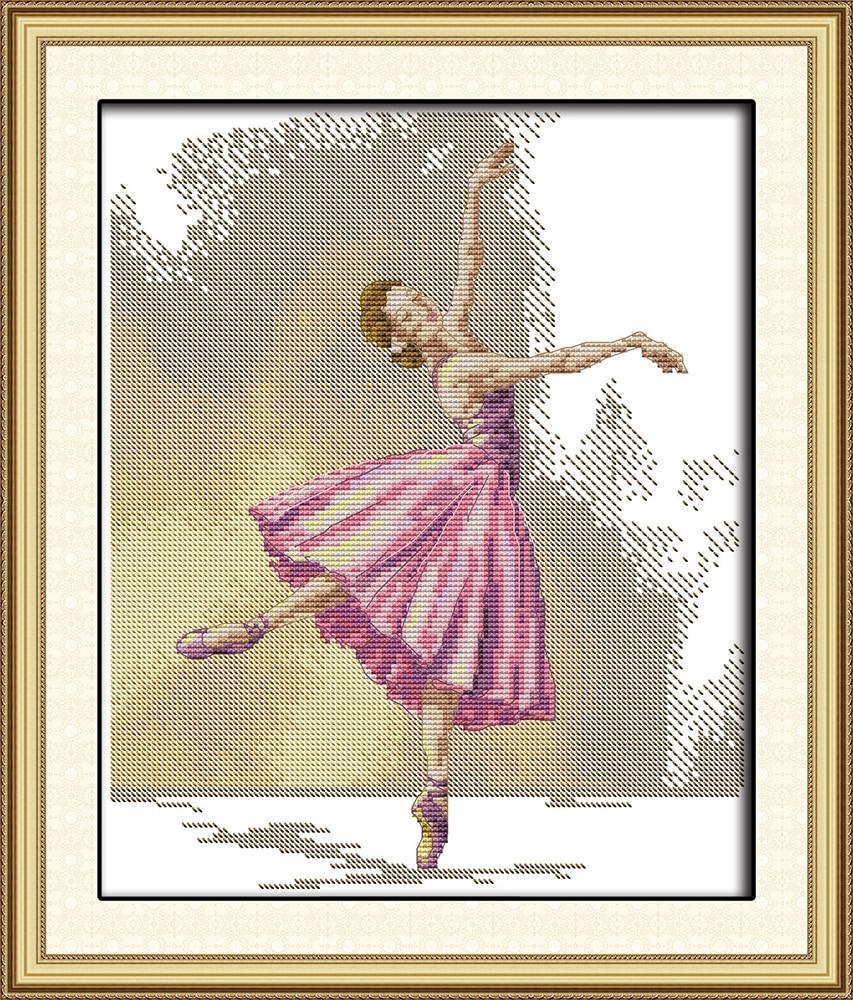 Ballet cross stitch kit