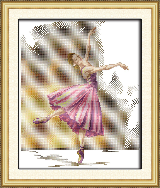 Ballet cross stitch kit