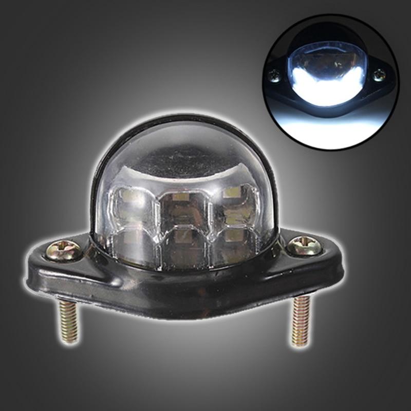12В 6 светодиодов номерной знак света заднего хвост Лампа грузовик прицеп отражатель металлический корпус грузовик авто фары