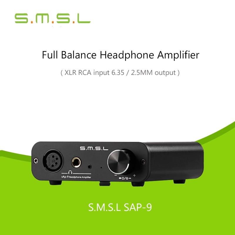 SMSL SAP 9 HIFI Class A Full Balanced Digital Audio Stereo Headphone Amplifiers TPA6120A2 RCA/XLR Headphone amp Balance Input