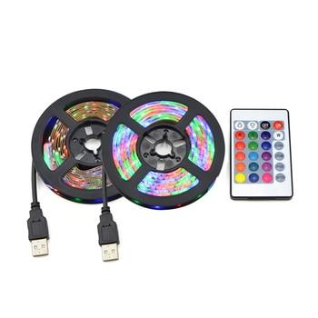 DC 5V USB 2835 LED RGB Strip lamp RGB Book light Bulb TV Background Decor Lighting Ribbon desk decor tape Strings 1M 2M 3M 4M 5M 1