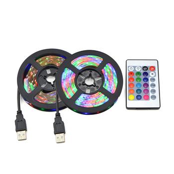 Wielokolorowa taśma LED na USB pasek lampka RGB DC 5 V 2835 podświetlenie książek telewizora żarówka ozdobne światło dekoracyjna wstęga 1 m 2 m 3 m 4 m 5m tanie i dobre opinie CHNAITEKE CN (pochodzenie) Książka światła 1 Year Przycisk komórki Żarówki led USB LED Strip light 1-5W USB LED book light