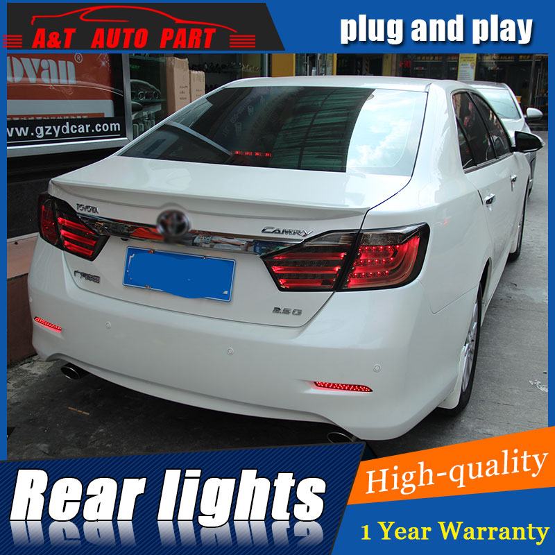 AUTO.PRO for Toyota Camry taillights Toyota Camry rear lights 12-14 led rear trunk lamp cover+signal+brake+reverse car styling