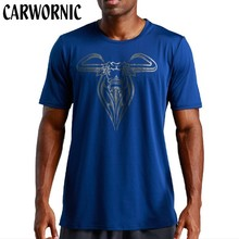 CARWORNIC Summer Men Fitness T-shirt O-neck Short Sleeves Crossfits Gyms Bodybuilding Breathable Slim Shirts Tee Tops Clothing
