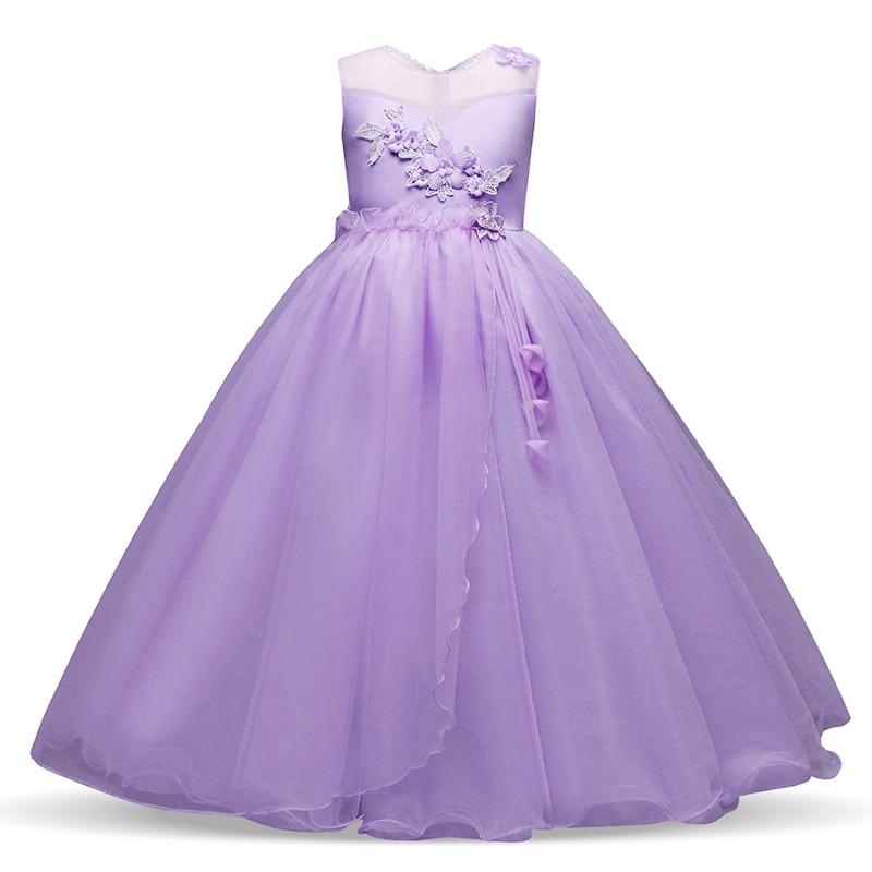 Cordón del verano vestidos de niña para la boda Irregular del ...