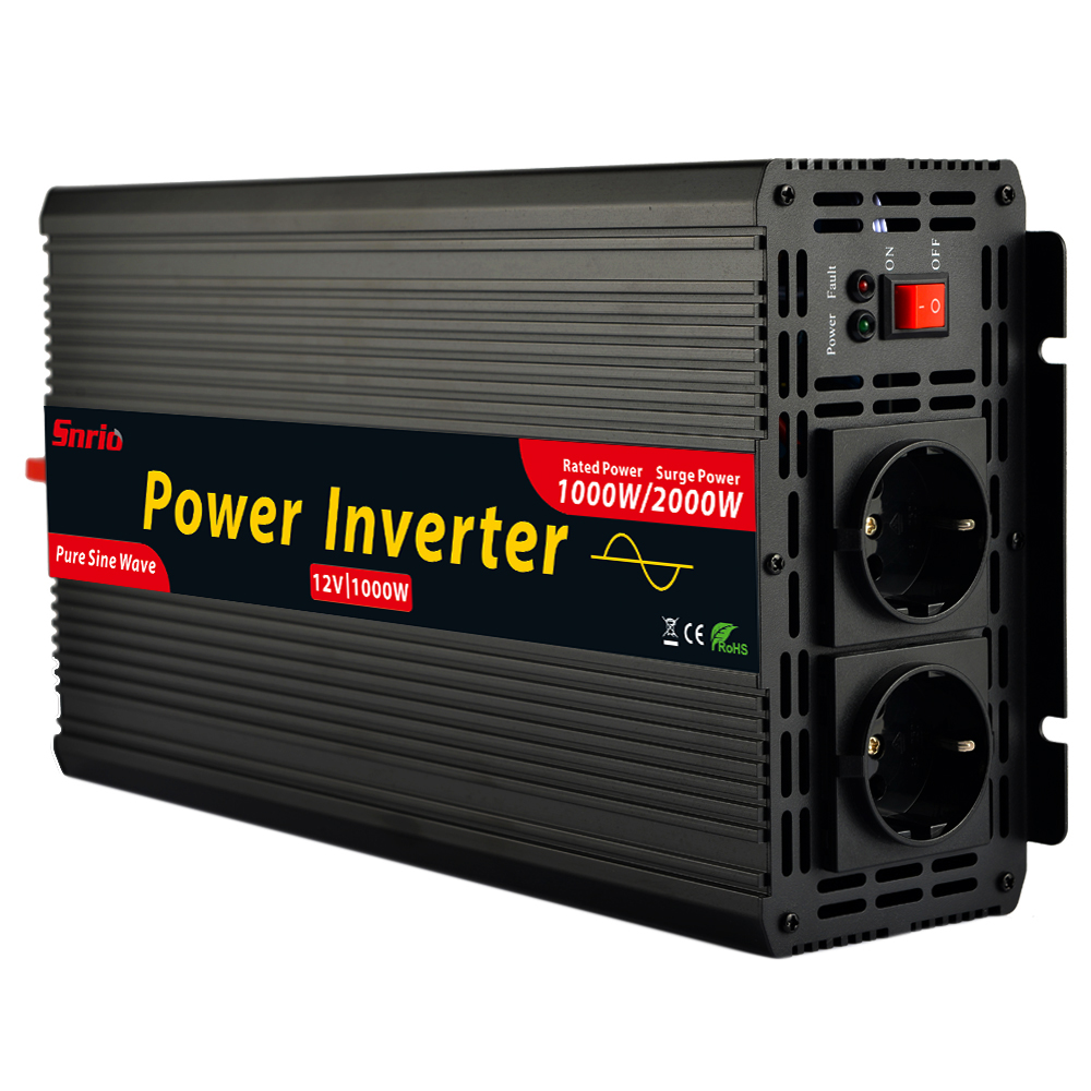 Newest high efficient DC 12V to AC 220V 1000w max 2000w pure sine wave power inverters-in Inverters & Converters from Home Improvement