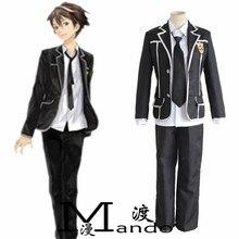 Anime japonés Guilty Crown OUMA SHU cosplay uniformes Escolares traje completo: capa + pant + tie