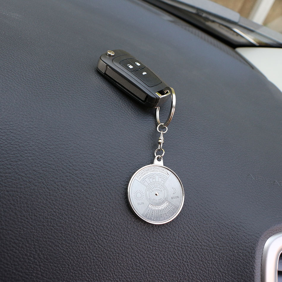 Color My Life Calendar Key Chain Metal Keychain Keyring Key Rings Case for Benz W211 W221 W220 W163 W164 W203 C E SLK GLK CLS GL