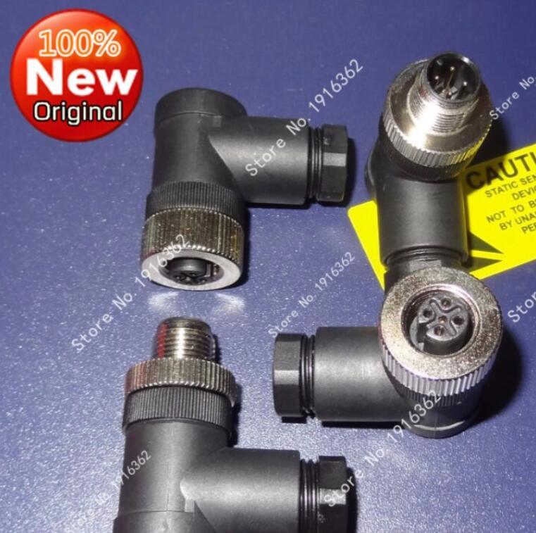 3 Lot of M12 Sensor Connector 4-Pin Female Adaptor Screw Terminal Plug