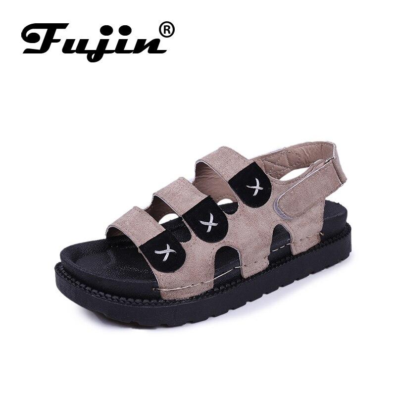 Fujin Women Sandals Summer 2019  Sandalias De Verano Para Mujer Platform Flat
