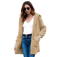 European and American new products 2018 Autumn winter long overcoat Comfortable velvet coat Fashion women's coat Chaqueta mujer