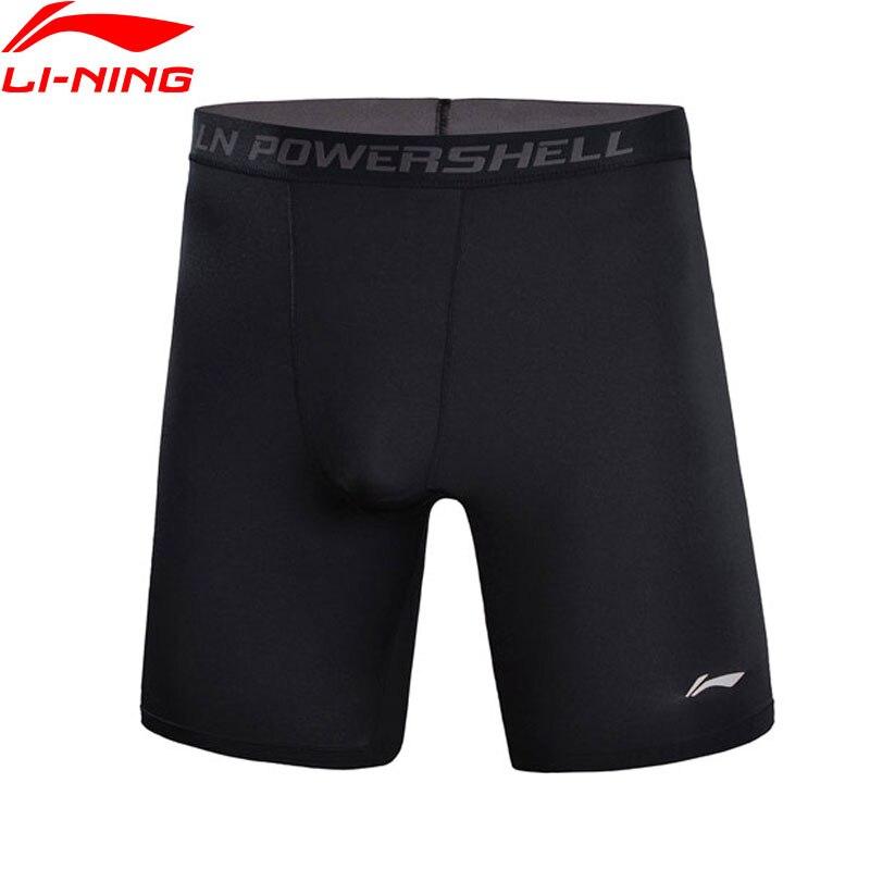 Li-Ning Men Professional Base Layer Tight Fit 88% Polyester 12% Spandex LiNing Elastic Sports Shorts AUSN003 MKD1523