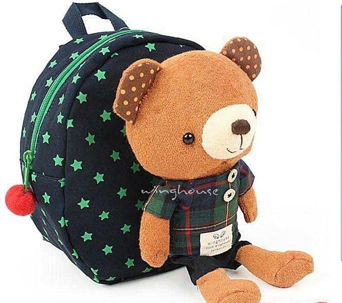 10 шт./лот медведь безопасности жгут сумка 3-в-1 для маленького ребенка безопасности ходячие поводья плюшевая игрушка-рюкзак приятель 2 цвета - Цвет: Navy