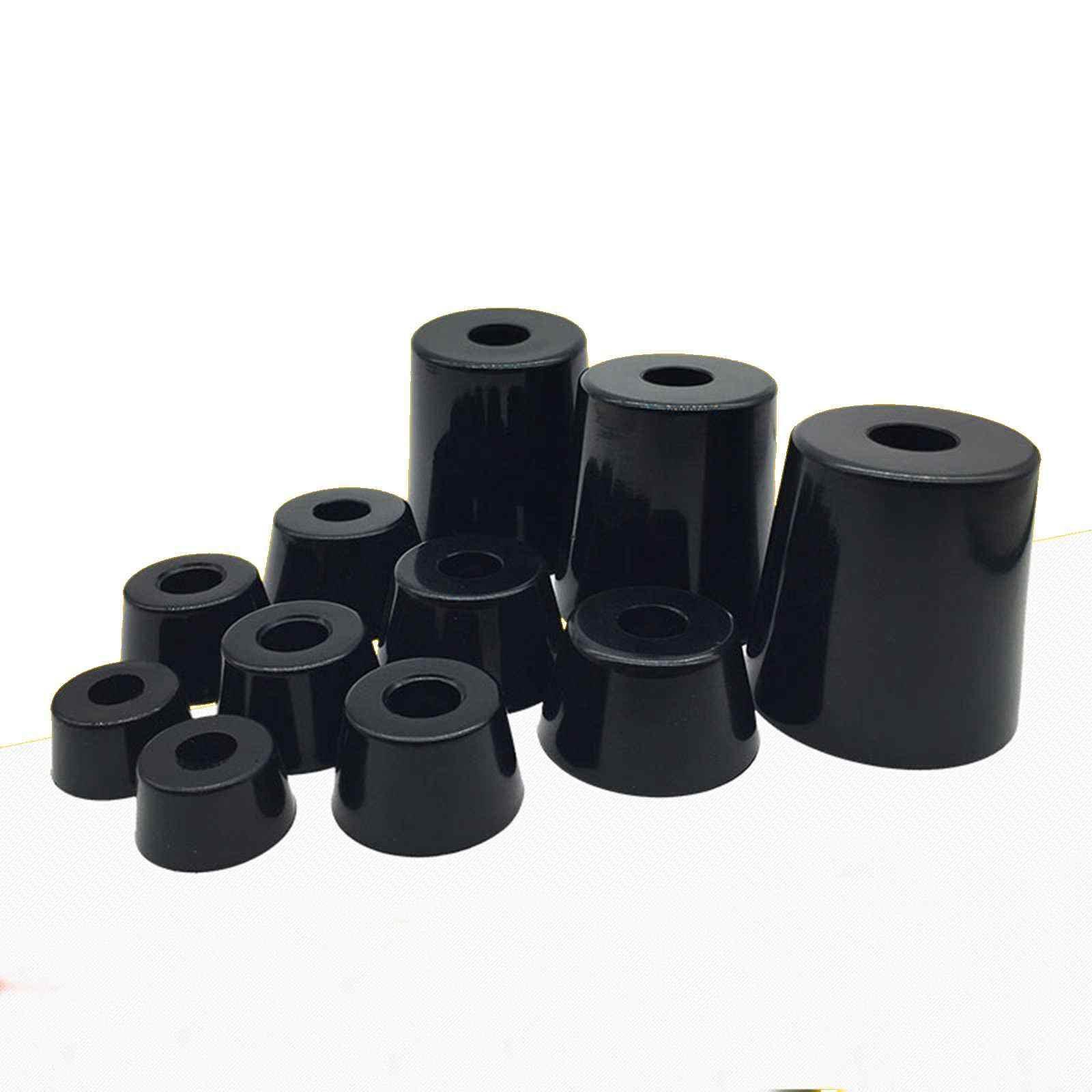 Anti slip möbel beine Füße Schwarz Lautsprecher Schrank bett Tisch Box Konische gummi shock pad boden protector Möbel Teile