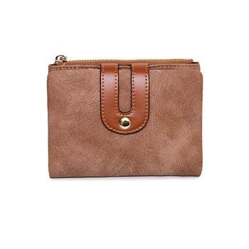20PCS / LOT Korean Style Women Wallet Short Purse Student Minimalist Wallet Two Folds Money Bag Card Holder Mini Thin Purse