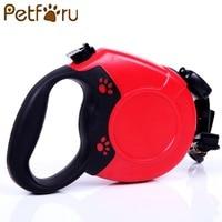 Petforu 5M Flexible Retractable Dog Leash Pet Walking Leads Automatic Stretching Luminous Dogs Leash