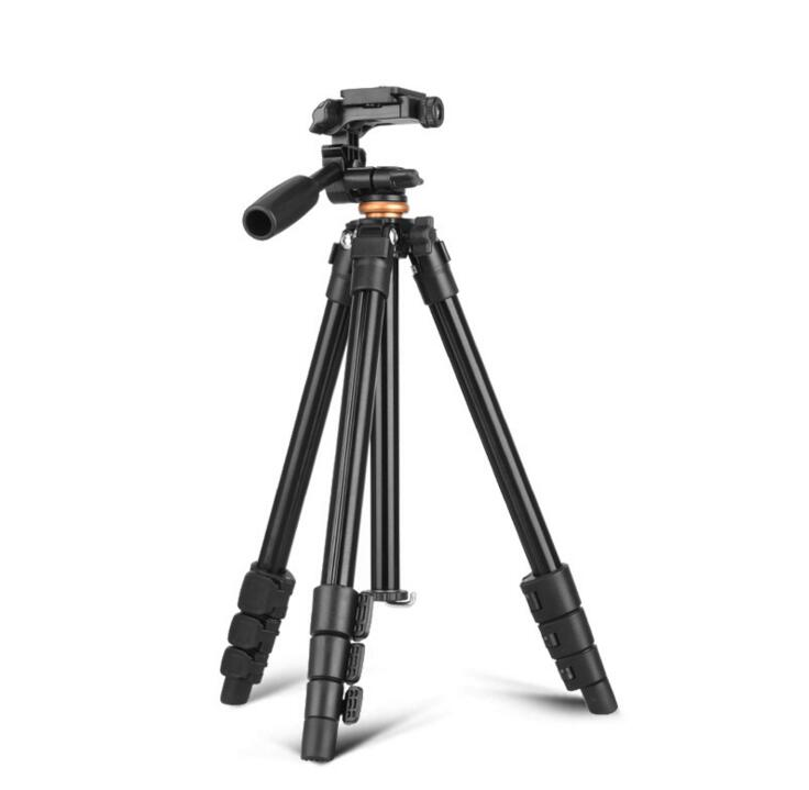 Q160A Light weight tripod Aluminum Alloy Mobile Phone Live Camera Stand DV Video Selfie Tripod With Pan Head for DV DSLR