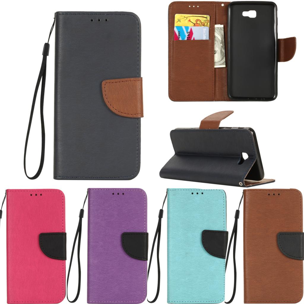 PU Leather Cases sFor coque Samsung Galaxy J5 prime Case For Fundas Samsung J5 prime Case Cover Hit color Flip wallet Phone Bags