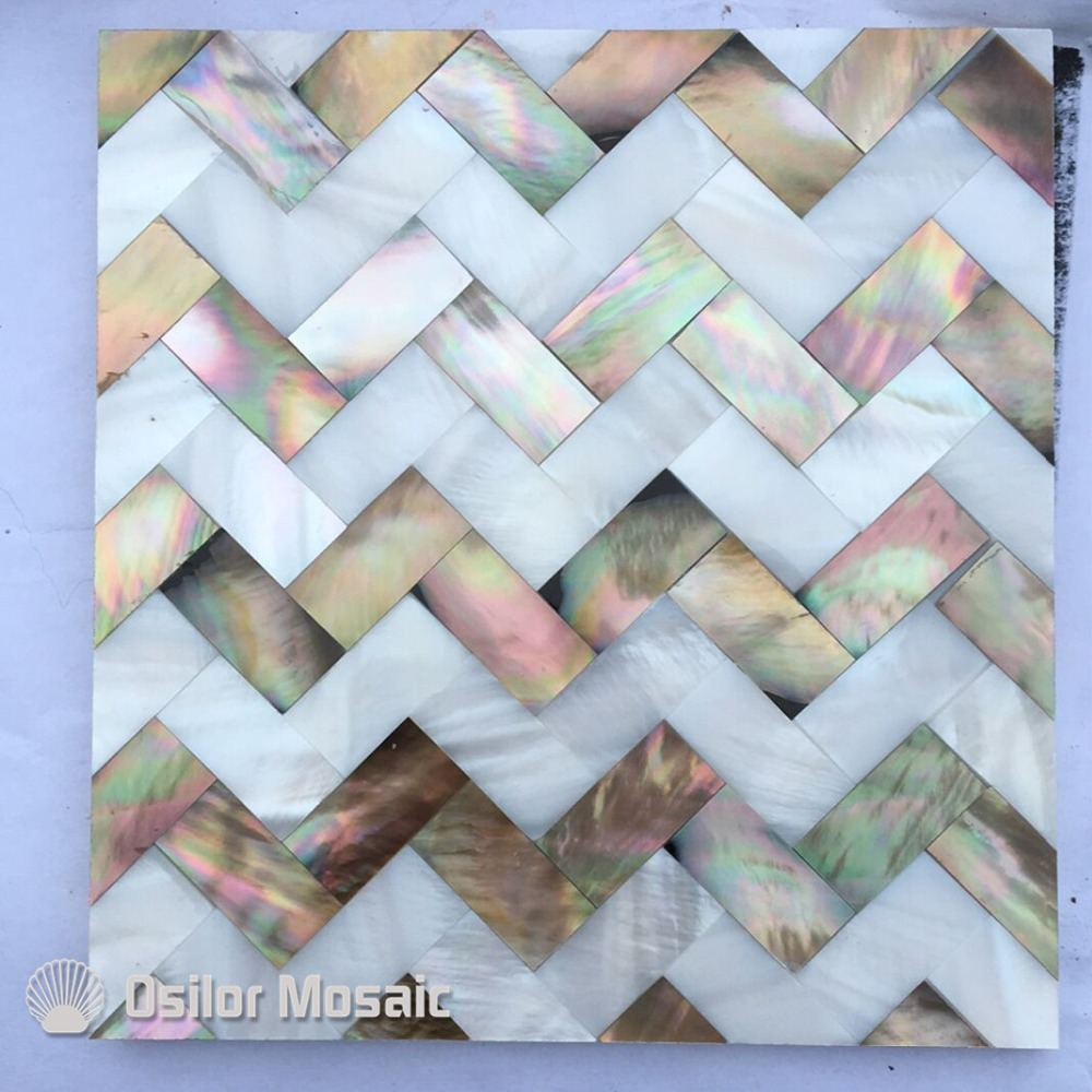 Free shipping wave pattern 100% natural penguin shell and Chinese freshwater shell mother of pearl tile wall tile free shipping k5 metal shell