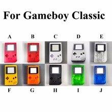 1 مجموعة 14 لون لاختيار ل عبة فتى GB لعبة الصبي OEM وحدة قذيفة حالة الإسكان مع شاشة و موصل المطاط D سادة أجزاء كاملة