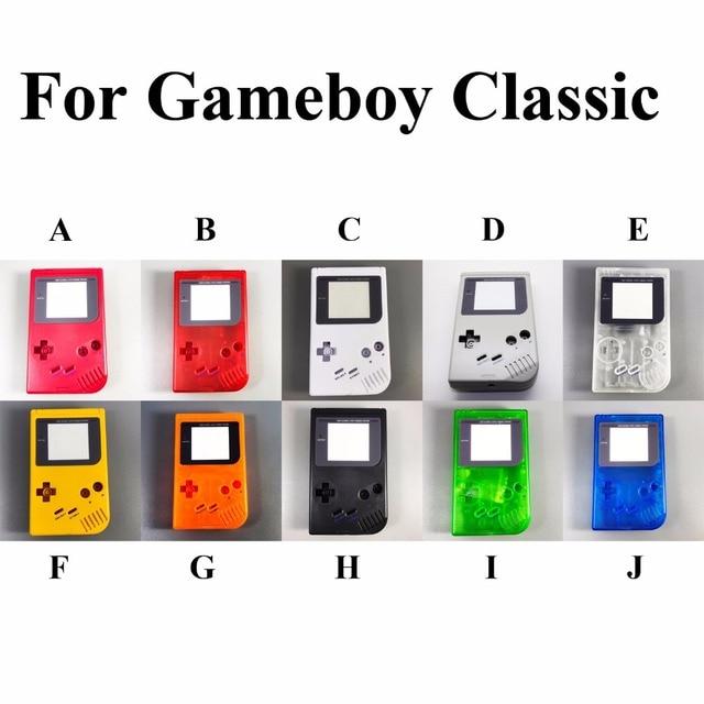 1 مجموعة 14 لون للاختيار ل Gameboy GB لعبة بوي OEM وحدة التحكم قذيفة الإسكان مع الشاشة والمطاط موصل D الوسادة أجزاء كاملة