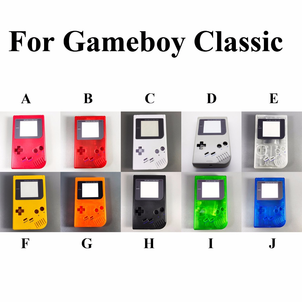 1set 14 color to choose For Gameboy <font><b>GB</b></font> Game Boy OEM Console Shell <font><b>Case</b></font> Housing With Screen & Conductive rubber D-pad full parts image