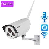 OwlCat HI3518E SONY323 Outdoor Waterproof Wireless Bullet IP Camera WiFi HD 1080P 2MP With Audio Microphone
