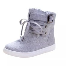 2018 New High-up Canvas Shoes Female Korean Edition Fashion Student Leisure Air-breathing Flat-soled  Ladies Branded