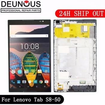 新しい8インチ用lenovoタブS8-50 S8-50F S8-50L S8-50LC lcdディスプレイ+タッチスクリーンデジタイザガラスレンズアセンブリでフレーム