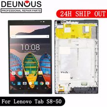 New 8 inch For Lenovo Tab S8-50 S8-50F S8-50L S8-50LC LCD Display + Touch Screen Digitizer Glass Lens assembly with frame(China)