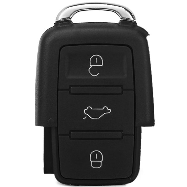Entry Key Remote Fob Shell Cover Case with 3 Buttons for Volkswagen Golf Jetta Replacement for Broken Buttons / Worn Key Blade