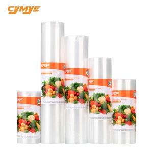 Cymye الغذاء تخزين التوقف أكياس VB01 فراغ لفة/ بكرة بلاستيكية حجم مخصص أكياس للمطبخ فراغ السداده إلى تحفظ الطعام طازجًا