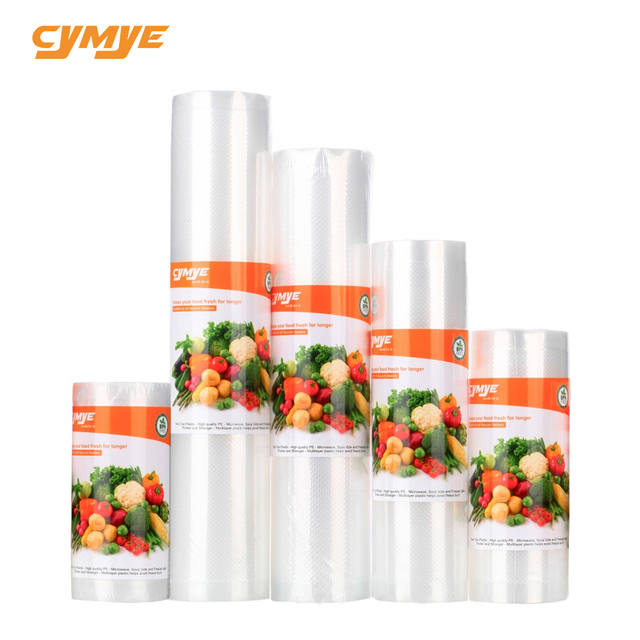 Cymye food Storage saver bags VB01 Vacuum Plastic roll custom size Bags For Kitchen Vacuum Sealer to keep food fresh