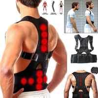Magnet Therapie Brace Unterstützung Gürtel Einstellbare Zurück Haltung Corrector Schlüsselbein Wirbelsäule Zurück Schulter Lenden Haltung Korrektur