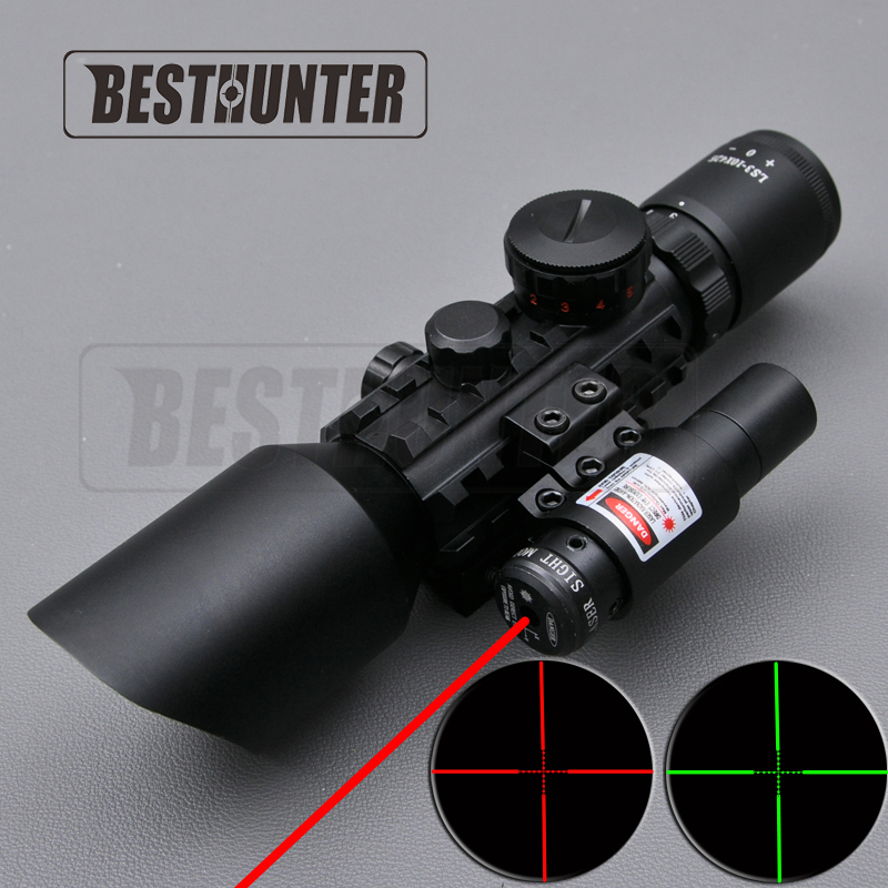 3 10X42E M9C Adjustable Rifle Scope Mounts Red Dot Tactical Optics Hunting font b Rangefinder b