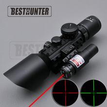 3-10X42E M9C Adjustable Rifle Scope Mounts Red Dot Tactical Optics Hunting Rangefinder Hunting Scope Front Sight