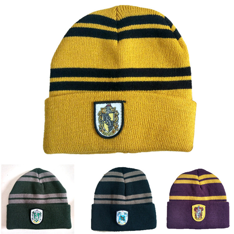 4type cosplay harri Hat Gryffindor/Slytherin/Hufflepuff/Ravenclaw college badge cap Hat Cosplay toy Costumes Halloween Toys Gift