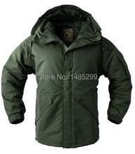 "New Southplay Men's ""Khaki Color"" Waterproof 10,000mm Outerwear Hood Double Closed Warming Jacket"