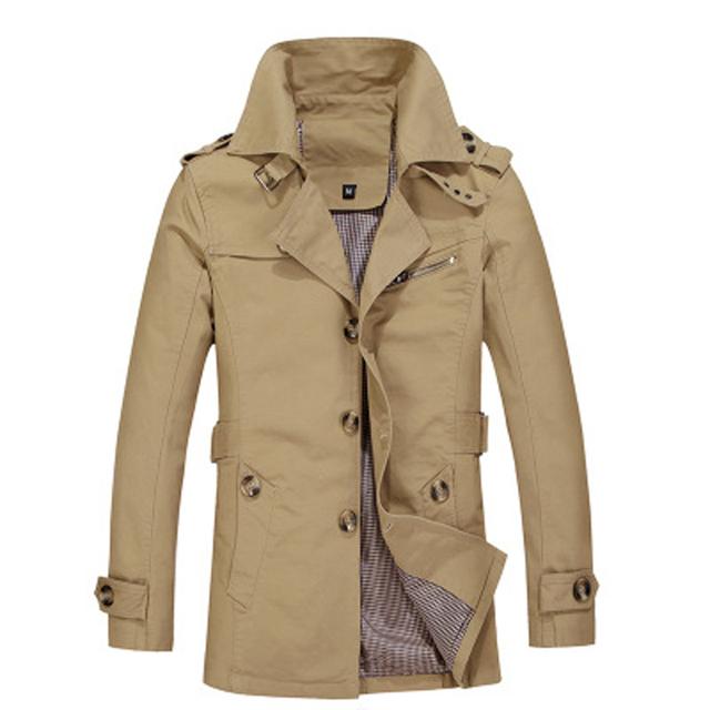 Uwback 2017 nova marca trench coat windbreak outcoat trench coat homem de negócios dos homens plus size 5xl outwear jaquetas homens ta010
