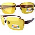 P11004-1 Yellow Lens Shooting Glasses 1.1mm Polarized Night Driving Sunglasses
