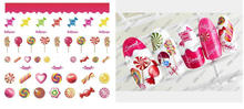 hot sale New sticker candy watermark sweet food nail stickers nail decoration lovely cartoon food nail