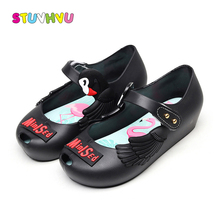 Toddler Girls Shoes Mini Sed Kid Shoes Soft Sole Breathable Fragrant Jelly Shoes for Girls Sandals Cartoon Flamingo Print Sandal