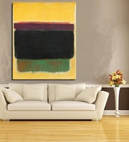 Mark Rothko Still life Classical oil Painting Drawing art Unframed Canvas kitchen iron gemstone brass wall 100%handpainted