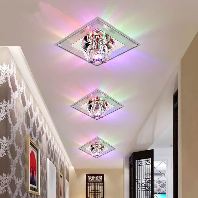 luz teto corredor foyer recessed teto montado espelho lampada teto vidro 03