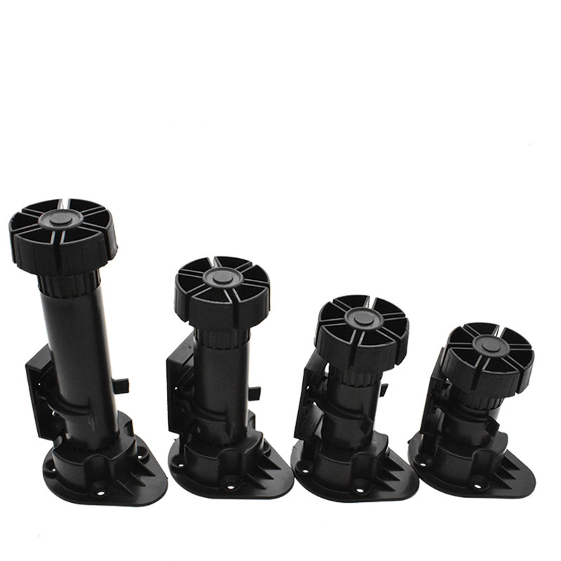 4pcs Adjustable Height Furniture Legs Rubber Feet Plastic Table Legs for Sofa Cabinet Foot Support Furniture Accessories