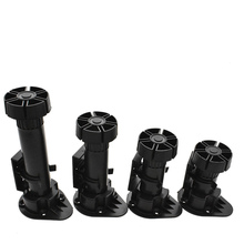 все цены на 4pcs Adjustable Height Furniture Legs Rubber Feet Plastic Table Legs for Sofa Cabinet Foot Support Furniture Accessories онлайн