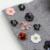 Novo Design de Inverno Mulheres Chapéu De Lã Com Grande Pom Pele Real Pom Gorro De Malha Chapéus Padrão Floral Suave Skullies Tampas Para As Mulheres senhoras