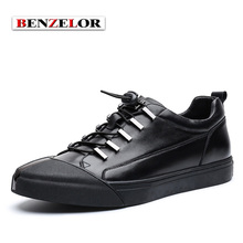 BENZELOR Chaussure Homme Brand 2017 Popular New Arrival Quality Genuine Leather Men Shoes Comfortable Soft Schoenen Male SD7015
