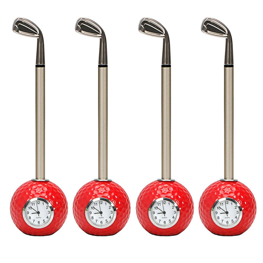 Image 3 - golf gift Golf club shape Ballpoint Pen with golf ball clock golf promotional desktop gift-in Golf Training Aids from Sports & Entertainment